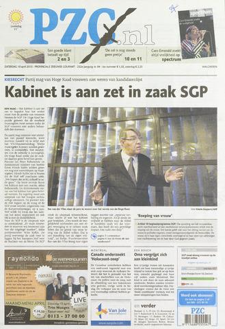 Provinciale Zeeuwse Courant 2010-04-10