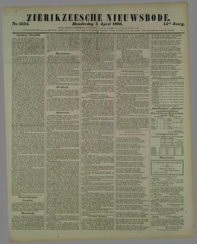 Zierikzeesche Nieuwsbode 1888-04-05