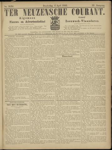 Ter Neuzensche Courant. Algemeen Nieuws- en Advertentieblad voor Zeeuwsch-Vlaanderen / Neuzensche Courant ... (idem) / (Algemeen) nieuws en advertentieblad voor Zeeuwsch-Vlaanderen 1895-04-04