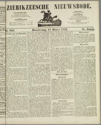 Zierikzeesche Nieuwsbode 1852-03-11