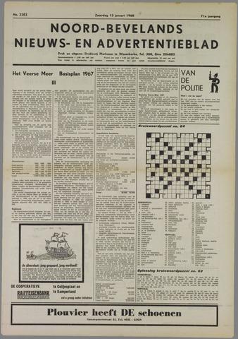 Noord-Bevelands Nieuws- en advertentieblad 1968-01-13