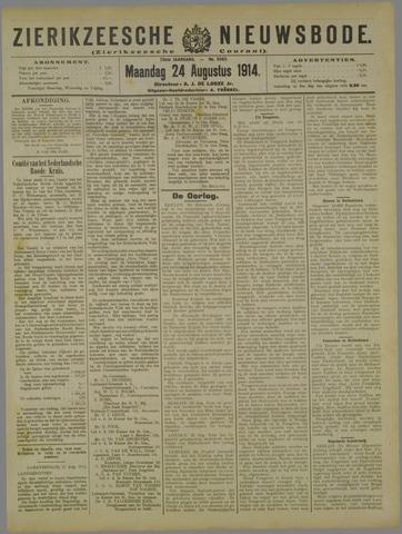Zierikzeesche Nieuwsbode 1914-08-24