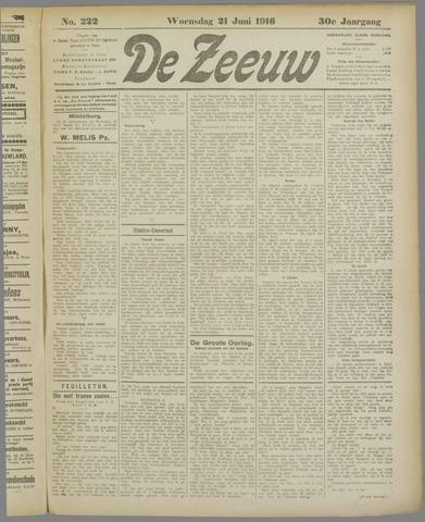De Zeeuw. Christelijk-historisch nieuwsblad voor Zeeland 1916-06-21