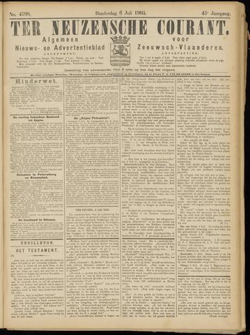 Ter Neuzensche Courant. Algemeen Nieuws- en Advertentieblad voor Zeeuwsch-Vlaanderen / Neuzensche Courant ... (idem) / (Algemeen) nieuws en advertentieblad voor Zeeuwsch-Vlaanderen 1905-07-06