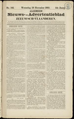 Ter Neuzensche Courant. Algemeen Nieuws- en Advertentieblad voor Zeeuwsch-Vlaanderen / Neuzensche Courant ... (idem) / (Algemeen) nieuws en advertentieblad voor Zeeuwsch-Vlaanderen 1865-11-29