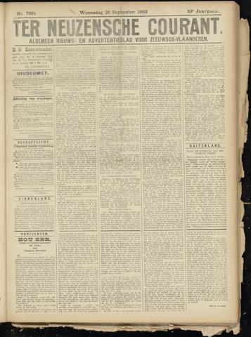Ter Neuzensche Courant. Algemeen Nieuws- en Advertentieblad voor Zeeuwsch-Vlaanderen / Neuzensche Courant ... (idem) / (Algemeen) nieuws en advertentieblad voor Zeeuwsch-Vlaanderen 1923-09-26