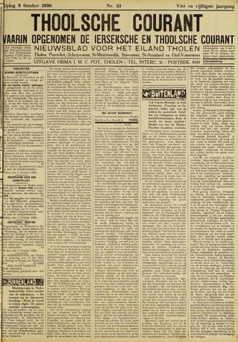 Ierseksche en Thoolsche Courant 1936-10-09