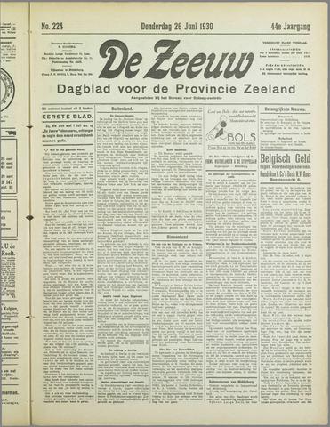 De Zeeuw. Christelijk-historisch nieuwsblad voor Zeeland 1930-06-26