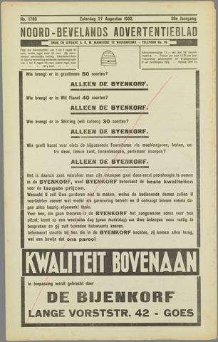 Noord-Bevelands Nieuws- en advertentieblad 1932-08-27
