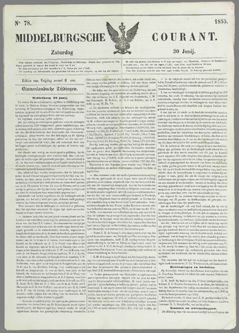 Middelburgsche Courant 1855-06-30