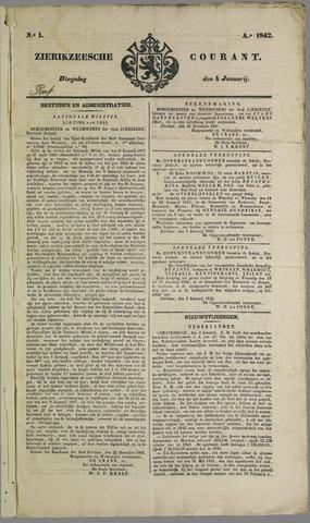 Zierikzeesche Courant 1842
