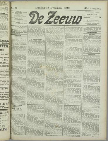 De Zeeuw. Christelijk-historisch nieuwsblad voor Zeeland 1920-12-28
