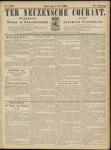 Ter Neuzensche Courant. Algemeen Nieuws- en Advertentieblad voor Zeeuwsch-Vlaanderen / Neuzensche Courant ... (idem) / (Algemeen) nieuws en advertentieblad voor Zeeuwsch-Vlaanderen 1908-07-09