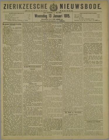 Zierikzeesche Nieuwsbode 1915-01-13