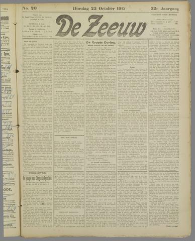 De Zeeuw. Christelijk-historisch nieuwsblad voor Zeeland 1917-10-23