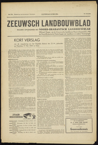 Zeeuwsch landbouwblad ... ZLM land- en tuinbouwblad 1954-05-22