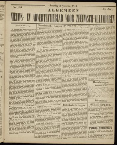 Ter Neuzensche Courant. Algemeen Nieuws- en Advertentieblad voor Zeeuwsch-Vlaanderen / Neuzensche Courant ... (idem) / (Algemeen) nieuws en advertentieblad voor Zeeuwsch-Vlaanderen 1873-08-02