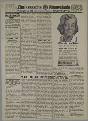 Zierikzeesche Nieuwsbode 1933-12-27