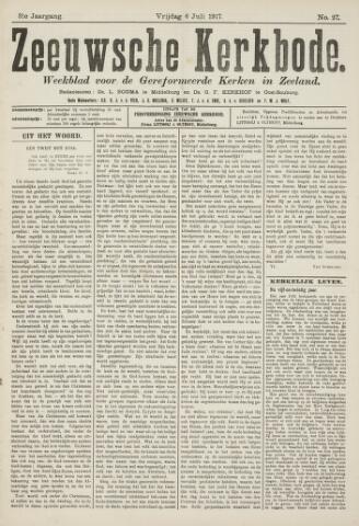 Zeeuwsche kerkbode, weekblad gewijd aan de belangen der gereformeerde kerken/ Zeeuwsch kerkblad 1917-07-06
