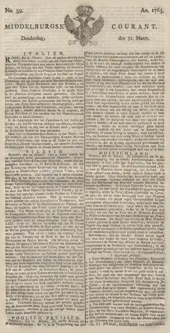 Middelburgsche Courant 1763-03-31