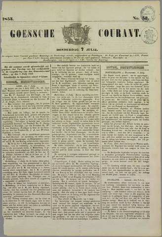 Goessche Courant 1853-07-07