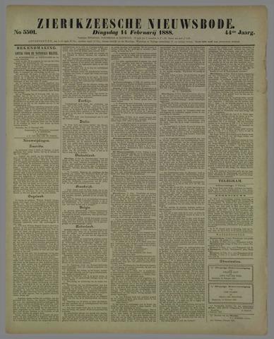 Zierikzeesche Nieuwsbode 1888-02-14