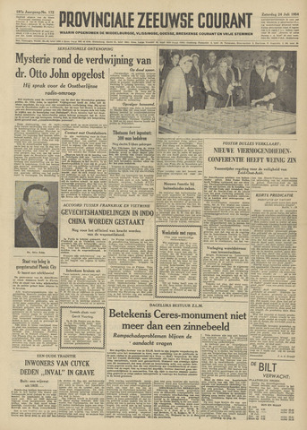 Provinciale Zeeuwse Courant 1954-07-24