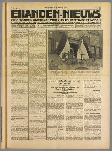 Eilanden-nieuws. Christelijk streekblad op gereformeerde grondslag 1936-04-29