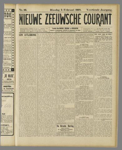 Nieuwe Zeeuwsche Courant 1918-02-05
