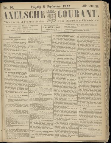 Axelsche Courant 1922-09-08
