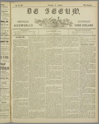 De Zeeuw. Christelijk-historisch nieuwsblad voor Zeeland 1897-02-25