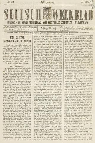 Sluisch Weekblad. Nieuws- en advertentieblad voor Westelijk Zeeuwsch-Vlaanderen 1864-07-22