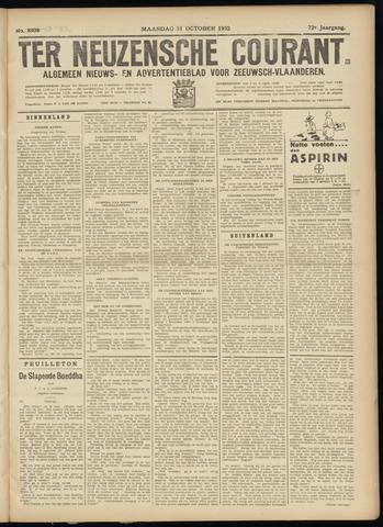 Ter Neuzensche Courant. Algemeen Nieuws- en Advertentieblad voor Zeeuwsch-Vlaanderen / Neuzensche Courant ... (idem) / (Algemeen) nieuws en advertentieblad voor Zeeuwsch-Vlaanderen 1932-10-31