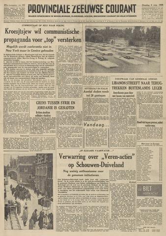 Provinciale Zeeuwse Courant 1958-08-05