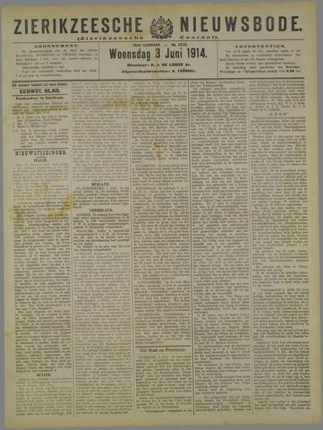 Zierikzeesche Nieuwsbode 1914-06-03