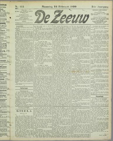 De Zeeuw. Christelijk-historisch nieuwsblad voor Zeeland 1920-02-24
