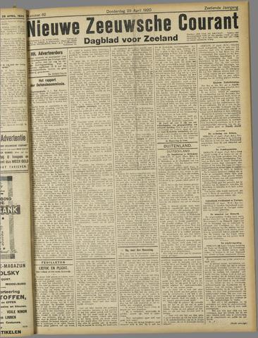 Nieuwe Zeeuwsche Courant 1920-04-29