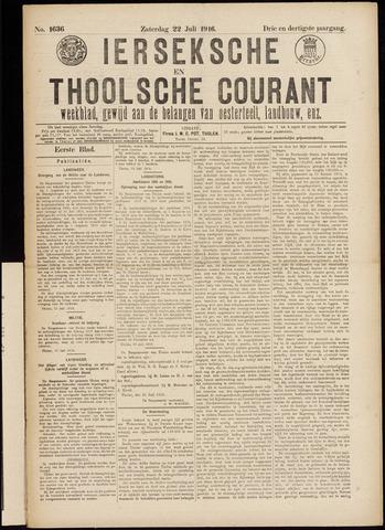 Ierseksche en Thoolsche Courant 1916-07-22