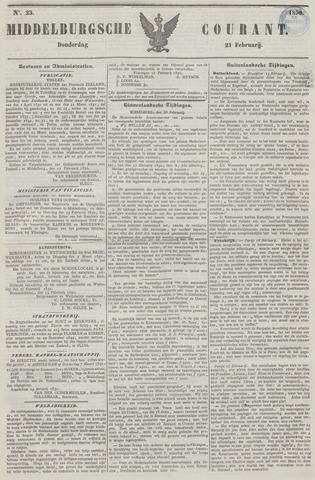 Middelburgsche Courant 1850-02-21