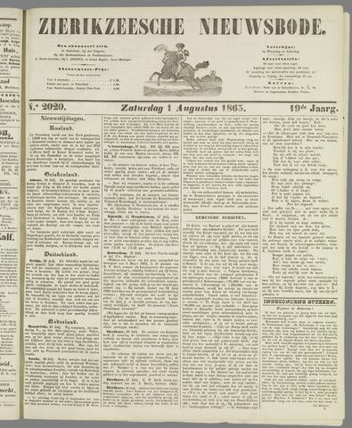 Zierikzeesche Nieuwsbode 1863-08-01