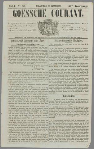 Goessche Courant 1864-10-31