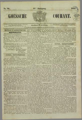Goessche Courant 1854-10-09