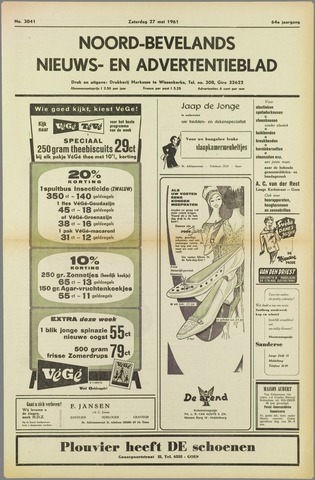 Noord-Bevelands Nieuws- en advertentieblad 1961-05-27