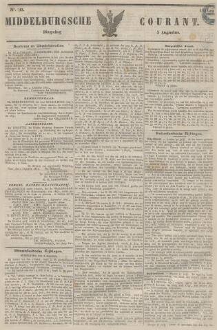 Middelburgsche Courant 1851-08-05