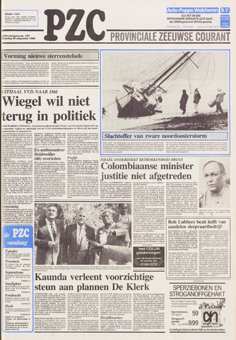 Provinciale Zeeuwse Courant 1989-08-29