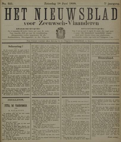 Nieuwsblad voor Zeeuwsch-Vlaanderen 1898-06-18