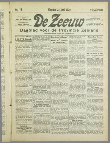 De Zeeuw. Christelijk-historisch nieuwsblad voor Zeeland 1930-04-28