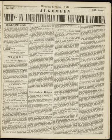 Ter Neuzensche Courant. Algemeen Nieuws- en Advertentieblad voor Zeeuwsch-Vlaanderen / Neuzensche Courant ... (idem) / (Algemeen) nieuws en advertentieblad voor Zeeuwsch-Vlaanderen 1873-10-15