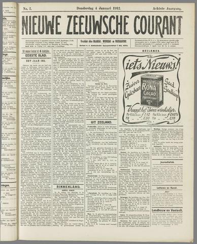 Nieuwe Zeeuwsche Courant 1912-01-04