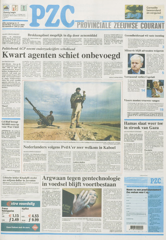 Provinciale Zeeuwse Courant 2002-01-10